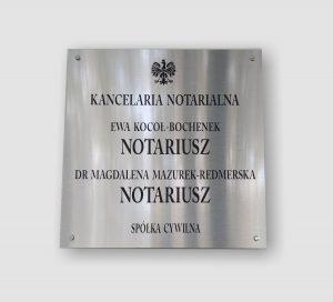 Kancelaria notarialna - szyldy Kraków